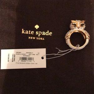 Kate Spade Star Bright Owl Ring